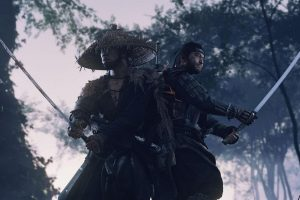 """The Ghost of Tsushima skin changes by removing the slogan """"Only on PlayStation"""" and adding the PS Studios logo"""