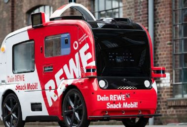 The first autonomous supermarket in Europe is a vending machine with wheels that is already circulating in Germany